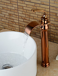 gold tone bathroom sink faucets. Contemporary Centerset Waterfall Ceramic Valve Single Handle One Hole Rose  Gold Bathroom Sink Faucet Tone Faucets Lightinthebox com