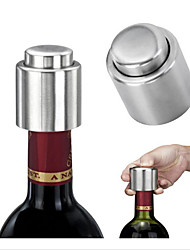 cheap -1Pcs Stainless Steel Wine Stopper Vacuum Pump Red Wine Bottle Stopers Standard Wine Storage Plug