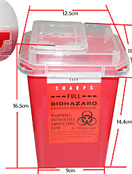 cheap -Professional Tattoo Sharps Needles Disposal Red Container For Tattoo Artists