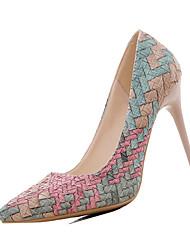 Da donna Tacchi Comoda PU (Poliuretano) Primavera Comoda A stiletto Beige Blu Rosa 10 - 12 cm