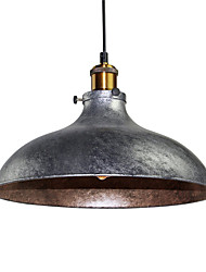 cheap -Vintage Pendant Lights Industrial 1-light Silver Gray Metal Dining Room Hallway Cafe  Lighting