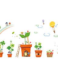 billige -Dyr Botanisk Tegneserie Vægklistermærker Fly vægklistermærker Dekorative Mur Klistermærker, Vinyl Hjem Dekoration Vægoverføringsbillede