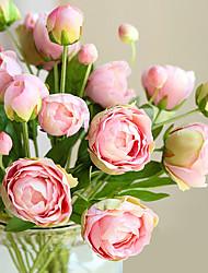 Недорогие -1 ветка (4 головы) многоцветный европейский стиль маленькие пионы искусственные цветы