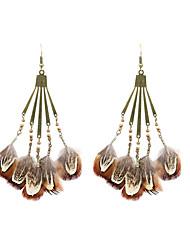 baratos -boêmia mulheres pingente de pluma de acrílico estilo clássico feminino