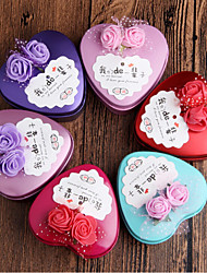 Heart-shaped Iron(nickel plated) Favor Holder With Flowers Favor Boxes Candy Jars and Bottles-10