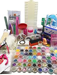 au 96 acrilico kit chiodo liquido polvere di scintillio di arte del gel UV suggerimenti colla pennello set nuovo