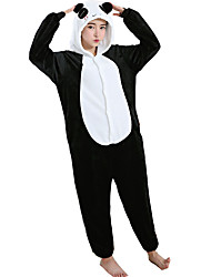 cheap -Kigurumi Pajamas Panda Onesie Pajamas Costume Flannel Toison White Cosplay For Adults' Animal Sleepwear Cartoon Halloween Festival /