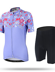XINTOWN Cycling Jersey with Shorts Women's Short Sleeves Bike Pants/Trousers/Overtrousers Jersey Shorts Tops Quick Dry Ultraviolet
