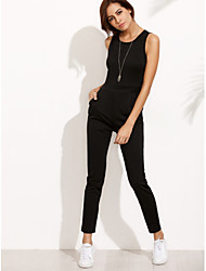 cheap -Going out Casual Slim Jumpsuit - Solid Colored