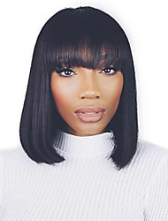 cheap -Synthetic Wig Straight Bob Haircut Synthetic Hair Black Wig Women's Capless