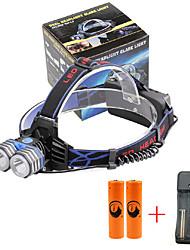 U'King Linternas de Cabeza Faro Delantero LED 4000 lm 3 Modo Cree XM-L T6 con pilas y cargador Múltiples Funciones Tamaño Compacto