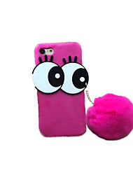 cheap -For DIY Case Back Cover Case Big Eyes Hair Ball Plush Case for Apple iPhone 7 Plus iPhone 7 iPhone 6s Plus/6 Plus iPhone 6s/6