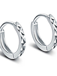 cheap -Hoop Earrings Costume Jewelry Elegant Classic Silver Sterling Silver Circle Jewelry For Party Daily Casual