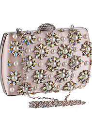 Women Bags Polyester Evening Bag Imitation Pearl Crystal/ Rhinestone for Wedding Event/Party Casual Formal Office & Career Winter Spring