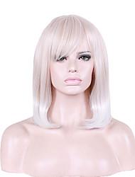 billige -Syntetiske parykker Naturligt, bølget hår Syntetisk hår Paryk Dame Kort Lågløs
