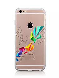 economico -Per iPhone X iPhone 8 iPhone 8 Plus Custodie cover Fantasia/disegno Custodia posteriore Custodia Geometrica Morbido TPU per Apple iPhone