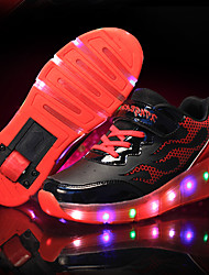 cheap -Shoes Leatherette Spring / Summer / Fall Light Up Shoes Athletic Shoes Skate Shoes LED for Blue / Pink / Orange / Black