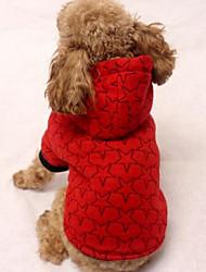 Cachorro Casacos Camisola com Capuz Roupas para Cães Casual Esportes Estrelas Preto Bege Cinzento Vermelho Ocasiões Especiais Para
