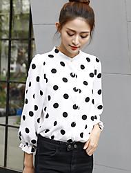 firmare 2017 molla della camicia collo alto camicia nuova ondata punto Coreano femminile moda neve a debole coesione selvatici
