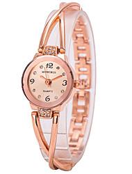 Women's Bracelet Watch Quartz Imitation Diamond Alloy Band Charm Gold