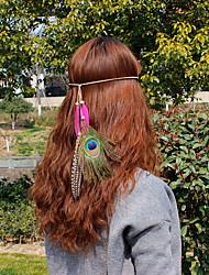 cheap -Feather Headbands Flowers Head Chain Hair Clip Hair Tie Hair Stick Wreaths Headpiece