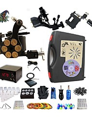 Professional Tattoo Kit 2 rotary machine liner & shader 1 alloy machine liner & shader 3 Tattoo Machine Inks Not Included