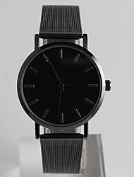 cheap -Men's Women's Wrist Watch Quartz Stainless Steel Band Analog Casual Fashion Black - Black