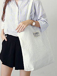 Women Bags All Seasons Canvas Shoulder Bag Lace for Wedding Event/Party Casual Sports Formal Outdoor Office & Career Blue Black Milky