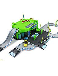 Недорогие -Гаражи и парковки Гоночная машинка Игрушки моделирование Автомобиль пластик ABS Творчество Классический и неустаревающий Изысканный и