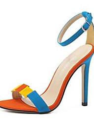 cheap -Women's Heels Spring Summer Fall Comfort Novelty Suede Party & Evening Dress Casual Stiletto Heel Buckle Walking