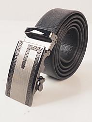 Men's wear resistant PVC black turtle embossed fashion leisure automatic buckle belt body is about 3.6 cm wide