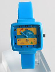 Relógio de Moda Relógio Casual / Quartzo Silicone Banda Casual Azul Cinza Rosa