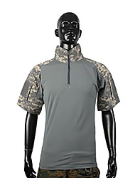 economico -Per uomo Per donna Unisex Manica corta T-shirt da caccia Asciugatura rapida Camouflage T-shirt Top per Caccia S M L