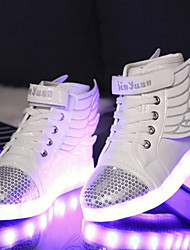 cheap -Boys' Sneakers Spring Fall Winter Light Up Shoes Comfort Novelty PU Outdoor Athletic Casual Flat Heel Magic Tape LED Lace-up Walking