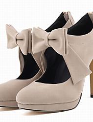 cheap -Women's Shoes Fabric Spring Fall Heels Stiletto Heel Round Toe Bowknot Zipper for Wedding Dress Party & Evening Fuchsia Red Green Blue