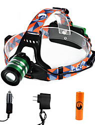U'King Headlamps Headlight LED 1000 lm 3 Mode Cree XM-L T6 with Battery and Chargers Zoomable Adjustable Focus High Power Easy Carrying
