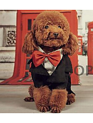 preiswerte -Hund Mäntel Hundekleidung Lässig/Alltäglich Britisch Schwarz Kostüm Für Haustiere
