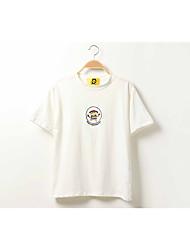 nuova versione coreana del super-Meng pastello ricamo del fumetto di estate segno allentati e comodi grandi cantieri donne della maglietta