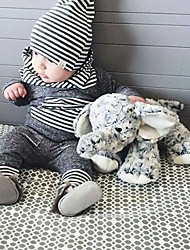 cheap -Baby Unisex Casual/Daily Striped Color Block Clothing Set, Cotton Spring Fall All Seasons Cartoon Stripes Long Sleeves Gray