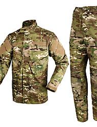 Недорогие -Муж. Жен. Универсальные Длинный рукав Куртка и брюки для охоты Износоустойчивый камуфляж Наборы одежды для Охота M L XL