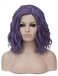 Недорогие -европейские и американские моды маленькая и чистая и свежая фиолетовая лапша ролл партия сои парика