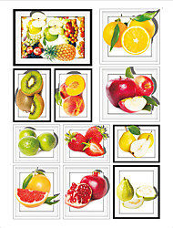cheap -Food 3D Wall Stickers 3D Wall Stickers Decorative Wall Stickers, Vinyl Home Decoration Wall Decal Wall