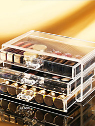Acrylic Make Up Organizer 3 Drawers Storage Box Clear Plastic Cosmetic Storage Box Makeup Organizer Storage