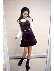 The new velvet camisole + velvet fishtail skirt two-piece suit bag