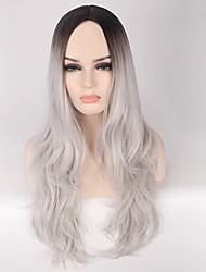 cheap -synthetic ombre grey wig long wavy african american wig for black women heat resistant hair cheap cosplay wig