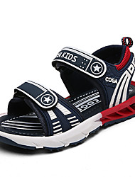 cheap -Boys' Shoes Microfiber Summer Comfort / Light Soles Sandals Walking Shoes Hook & Loop for Navy Blue / Black / White