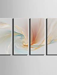 cheap -E-HOME Stretched Canvas Art Ethereal Color Decoration Painting Set Of 5