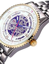 economico -Per uomo orologio meccanico Orologio da polso Orologio scheletro Orologio elegante Orologio alla moda Orologio sportivo Carica automatica