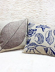 cheap -1 pcs Cotton/Linen Pillow Case, Graphic Prints Still Life Casual Outdoor Accent/Decorative Retro Modern/Contemporary