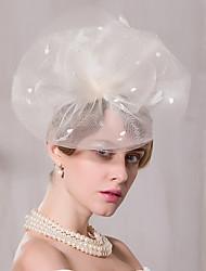 Tulle Fascinators Hats Headpiece Wedding Party Elegant Feminine Style